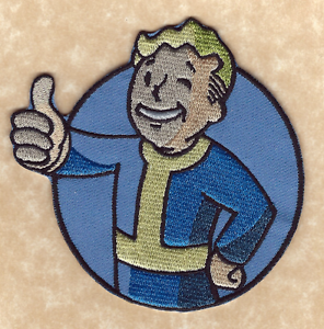 FALLOUT-FALL-OUT-4-VAULT-BOY-3-5-034-Thumbs-Up-Pip-Boy-Pipboy-Sew-Iron-on-PATCH