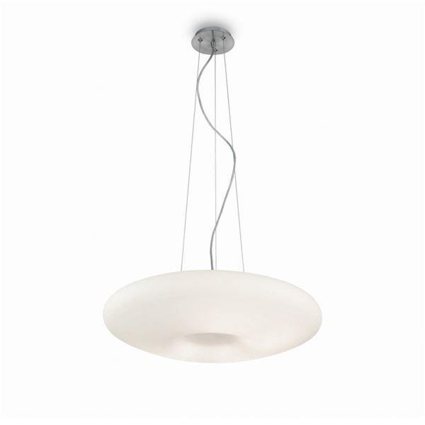 IDEAL LUX GLORY SP3 D40, sospensione moderna lampadario in vetro bianco 3 luci