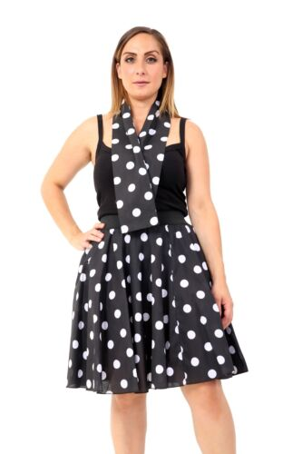 Mesdames femmes polka dot rocknroll caniche jupe-rétro 1950/'s//1960/'s style