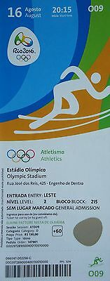 Rio 2016 Dependable Mint Ticket 16/8/2016 Olympic Games Rio Athletics # O09 Attractive Fashion Olympic Memorabilia