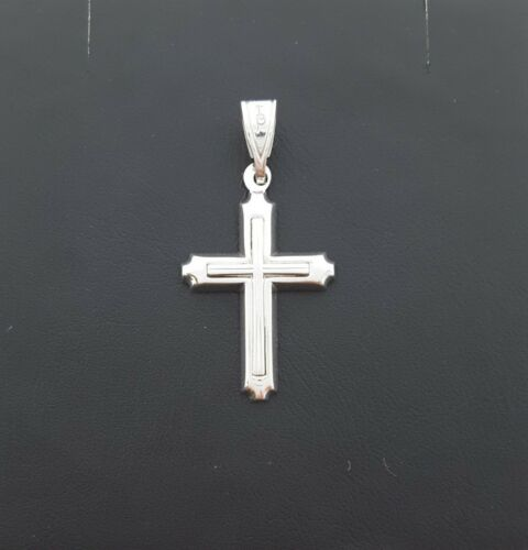 Miran 800480 18k White Gold Cross Pendant 2.7g RRP $545