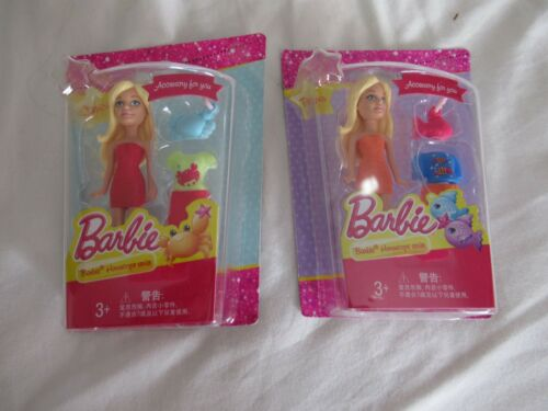 "X2 Barbie Doll Horoscope Series 3/"" Toy Figures Mattel Leo /& Taurus BARBIE"