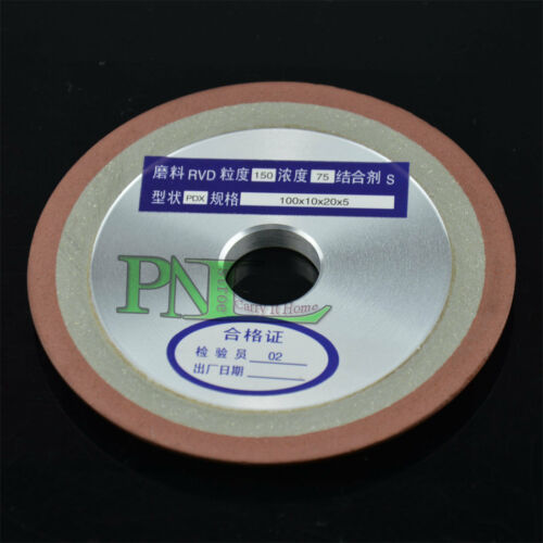 3Inch Side Tapered Type Resin Bond Diamond Grinding Wheel 75mmX10MMX5MM G 150