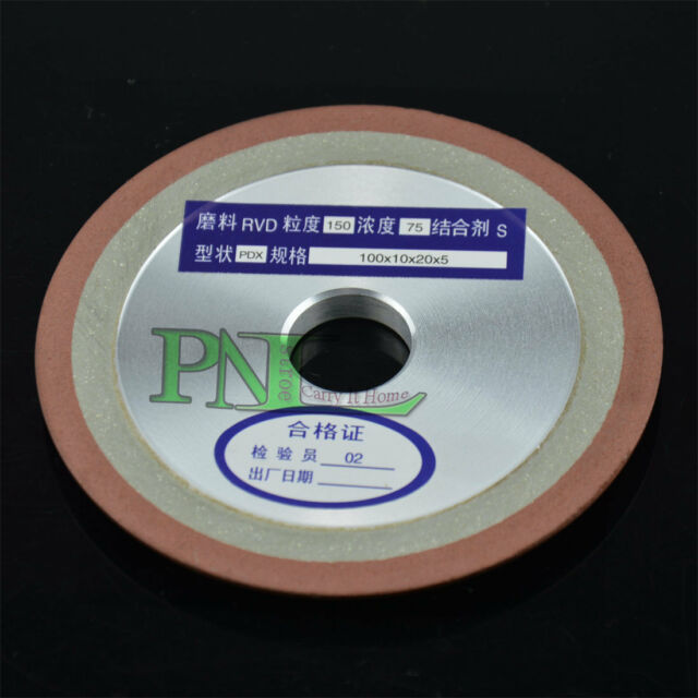3Inch Side Tapered Type Resin Bond Diamond Grinding Wheel 75mmX10MMX5MM G 150