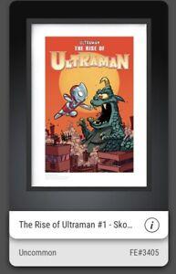 VEVE NFT⚡️THE RISE OF ULTRAMAN #1 UNCOMMON DIGITAL ART COMIC COVER Skottie Young