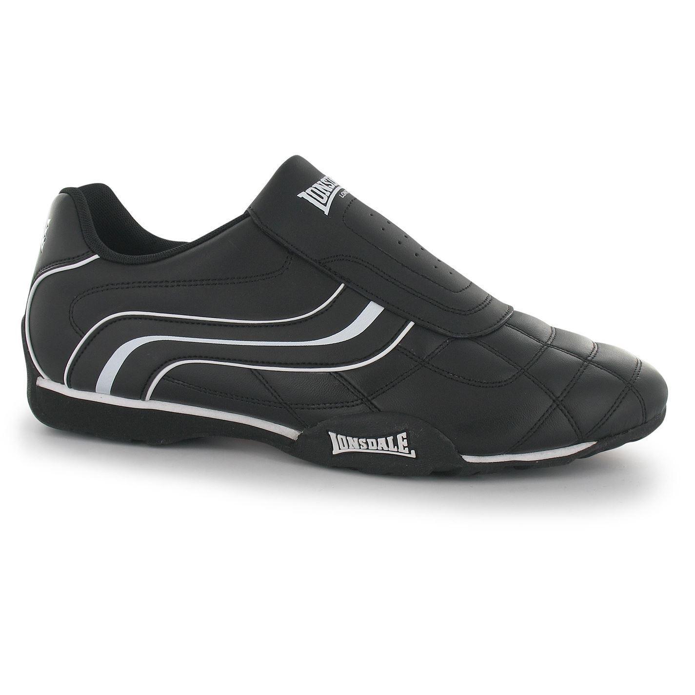 Lonsdale Camden Slip on  Trainers Mens nero  bianca Casual scarpe da ginnastica Scarpe Calzature  Sconto del 40%