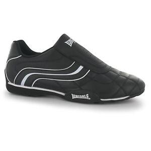 Lonsdale-Camden-Sin-Cordones-Zapatillas-para-hombre-Negro-Blanco-informal-Tenis-Zapatos-Calzado