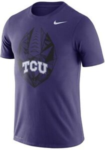 NIKE NCAA TCU Horned Frogs Icon Performance DRI FIT Purple TEE SHIRT