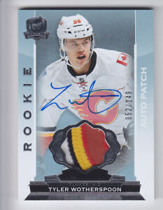 2014-15-UD-THE-CUP-TYLER-WOTHERSPOON-ROOKIE-PATCH-AUTO-052-249-RC-4C-121-Flames