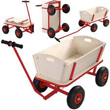 Children Kids Toys Cart Wagon Stroller Outdoor Garden Tools W/ Wood Railing New