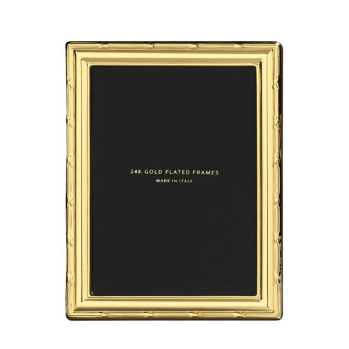 Cunill 24K Gold Plated Ribbon 5X7 Picture Frame
