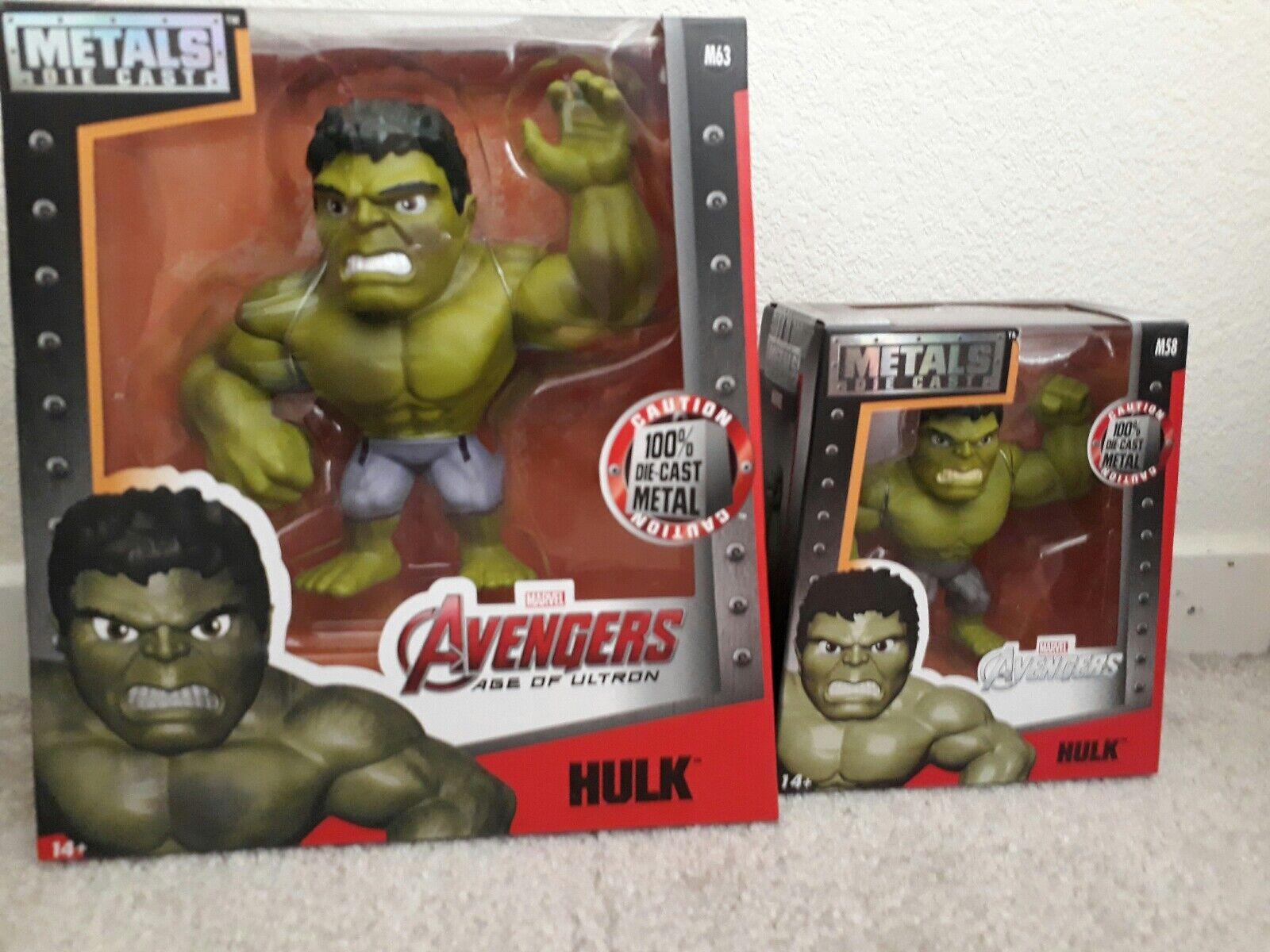 Metals Die Cast 6  Hulk M63 & 4  Hulk M58 BRAND NEW