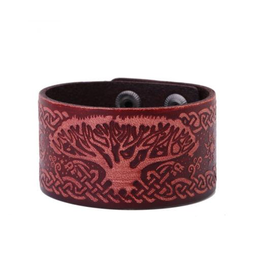 Ancient Norse Viking infini arbre de vie Yggdrasil Celtic Knot amulet bracelet