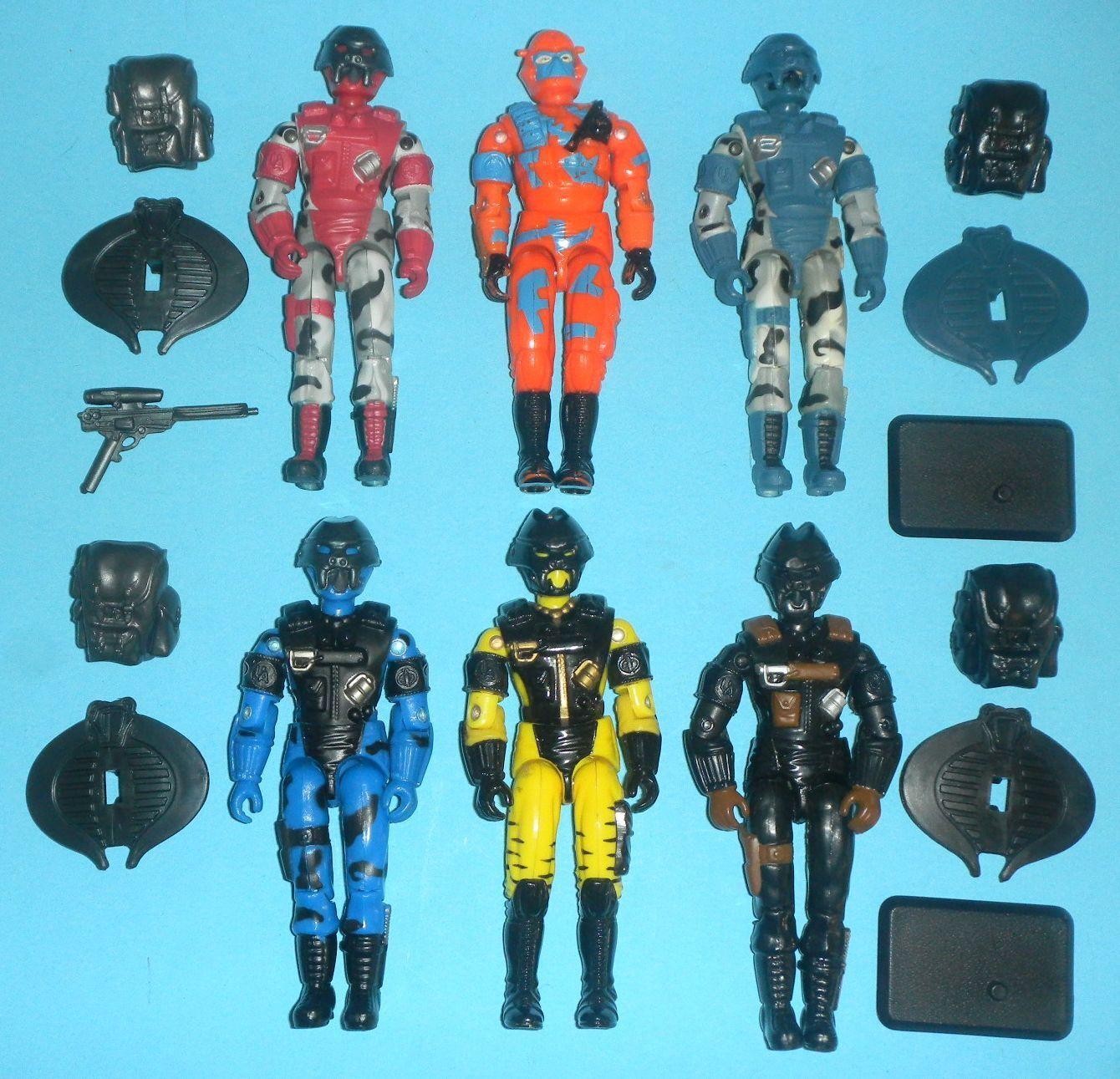 Lot x6 GI Joe Cobra Urban Assault Trooper Alley Viper Figures v1 v2 v5 v6 v7 v9