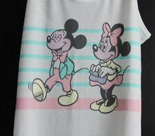 b831a29e04a62 Disney Minnie Mickey Mouse Racer Back Tank Top Shirt Pink Blue Juniors L  Large