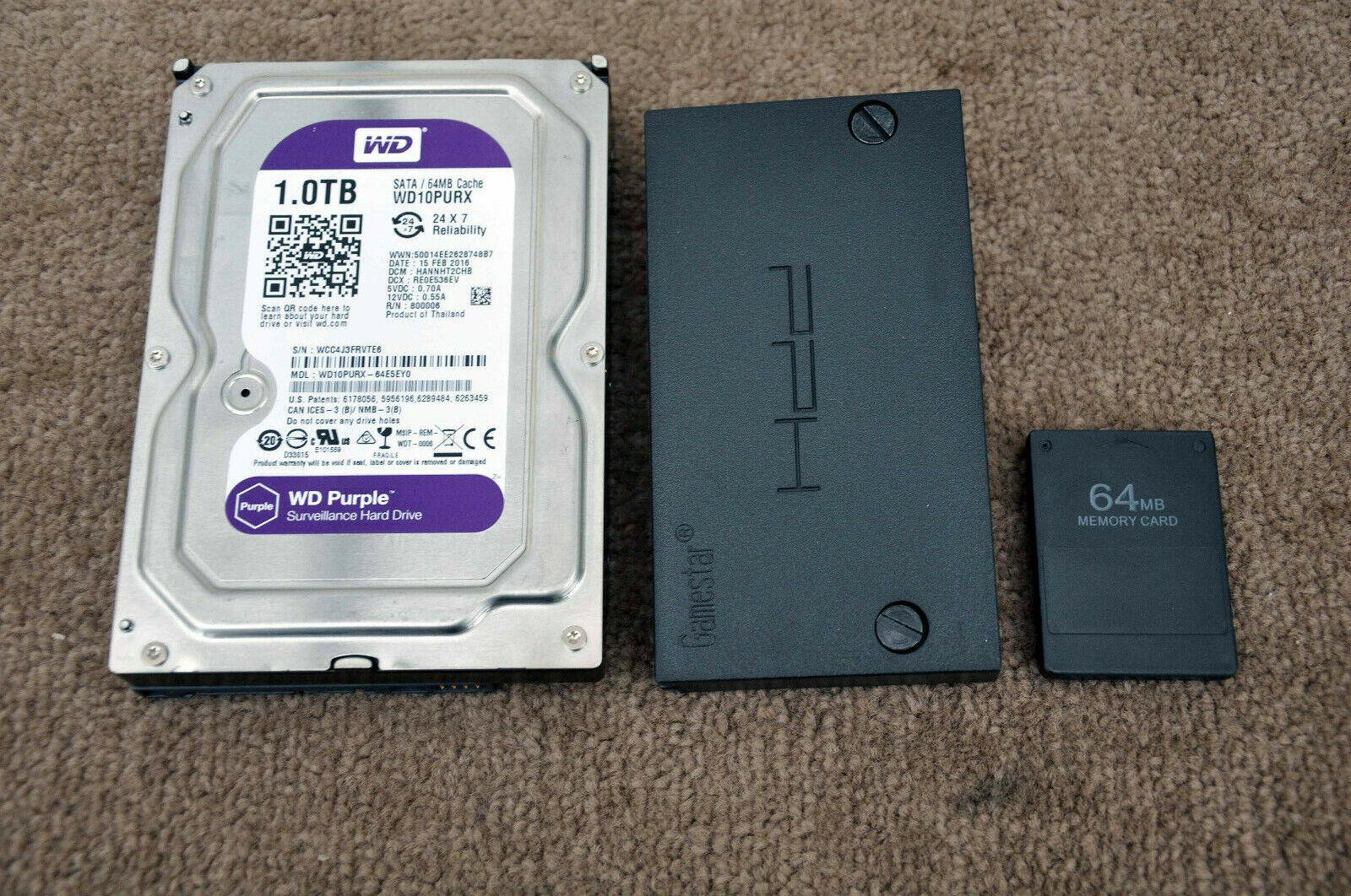Playstation 2 1TB Hard Drive Upgrade + Adapter + 64MB Free Mcboot Memory Card