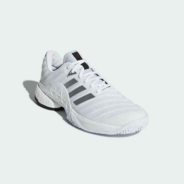 half off 2be71 fe97f adidas Barricade 2018 Boost Men Whitesilver Db1570 Gift 12 for sale online   eBay