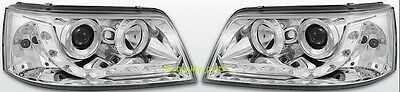 VW TRANSPORTER T5 LED FRONT HEADLAMPS HEAD LAMP HEADLIGHT H1+H1 PAIR NEW TYPE