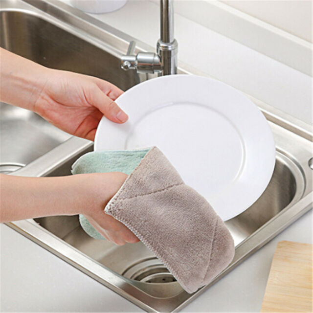 Two Color Multifunction Thickening Cloth Bamboo Fiber Washing Cloths WO