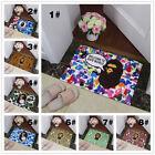 Bape Bathroom Bedroom Non-slip Door mat Floor Mats Area Rug Carpet bathing ape