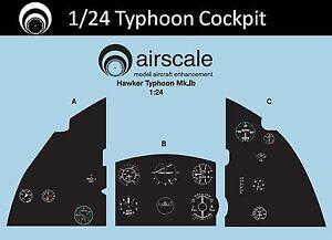 Airfix 1//24 scale  AS24 HUA airscale Hawker Hurricane cockpit decals