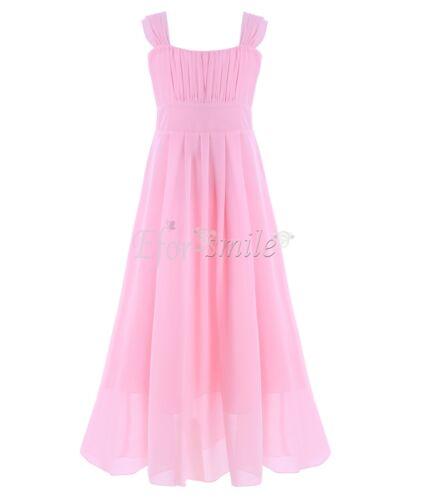 Chiffon Kinder Mädchen Kleid Prinzessin Hochzeit Partykleid Festkleid Ballkleid