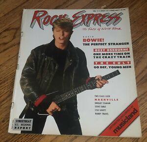 DAVID BOWIE 1987 ROCK EXPRESS Magazine U2 OZZY OSBOURNE THE CULT DWIGHT YOAKAM