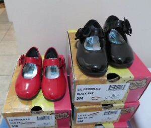 Girl/'s Toddler RACHEL SHOES LIL PRISCILA Black Patent Mary Janes Dress Shoes New