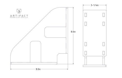 """Heavy-Duty Laser-Cut Steel 8/"""" Weld-Yourself Fabrication Square"""
