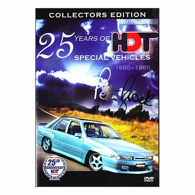 25 Years of HDT Special Vehicles: 1980 - 1988 - Peter Brock DVD Brand New Aust.