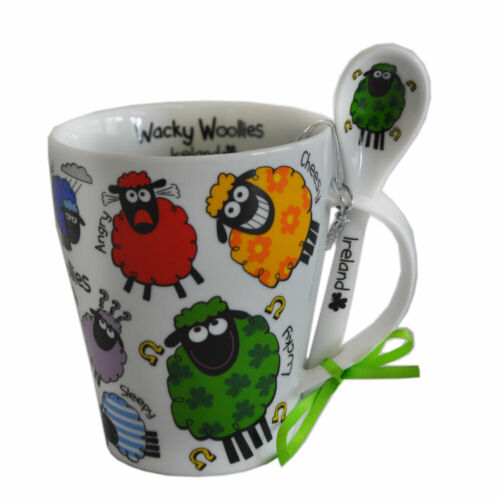 Irish Mug And Spoon Set Wacky Woollies