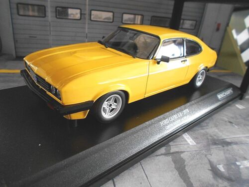 FORD Capri Coupe MKIII 3 1978 gelb yellow 3.0 V6 NEU Minichamps 1:18