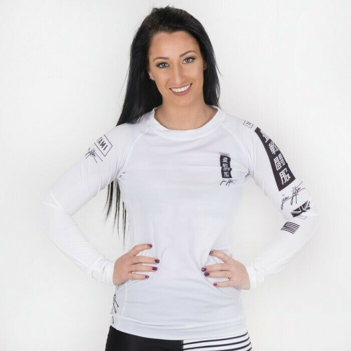 TATAMI Ladies Kanagawa Long Sleeve Rash Guard - White - MMA BJJ