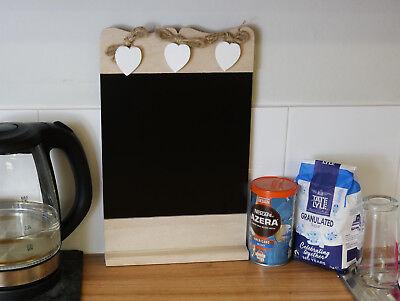 Vintage Wooden Chalk Board Sign Blackboard Memo Message Board Wedding  Kitchen | eBay