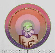 c. 1968 James McMullan VISIBLE STUDIO circular Psychedelic Pop Kinetic Poster