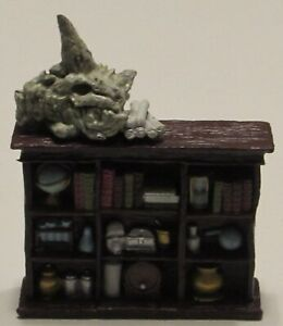 BOOKSHELF WITH DRAGON SKULL Waterdeep Dungeon of the Mad Mage D&D Halaster's Lab