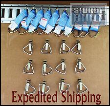 22pcs 10x E Track Tie Off & 12x D Ring Truck f Cargo Van Trailer Tie Off Ratchet