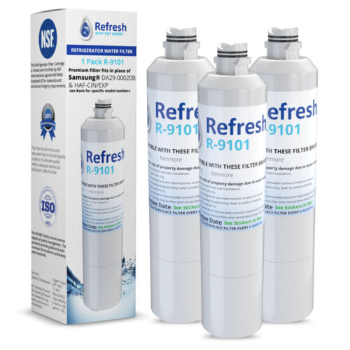 by Refresh Replacement For Samsung RF28HFEDBSR//AA Refrigerator Water Filter