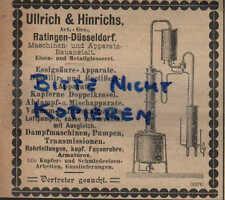 RATINGEN, Werbung / Anzeige 1902, Ullrich&Hinrichs AG Destillir-Apparate