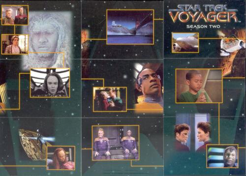 STAR TREK VOYAGER SEASON 2 TWO 1996 FLEER SKYBOX COMPLETE BASE CARD SET OF 100