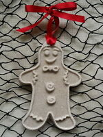 Gingerbread Man Made With Sand Tropical Beach Christmas Ornament
