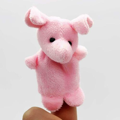 10x Family Finger Puppets Cloth Animal Doll Child Baby Educational Hand Toy Gift