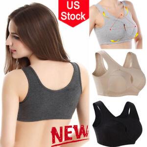 0c6ef6646cbac US Womens Seamless Yoga Sport Bra Crop Top Nursing Sleep Bra Cotton ...
