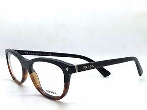 1495253587a2 Prada VPR 05R TKA-1O1 Black  Tortoise Authentic Eyeglases 53mm 17mm ...