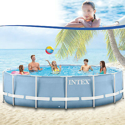 INTEX PISCINE AUTOPORTANTE SWIMMING POOL ROTONDO 457x122 cm