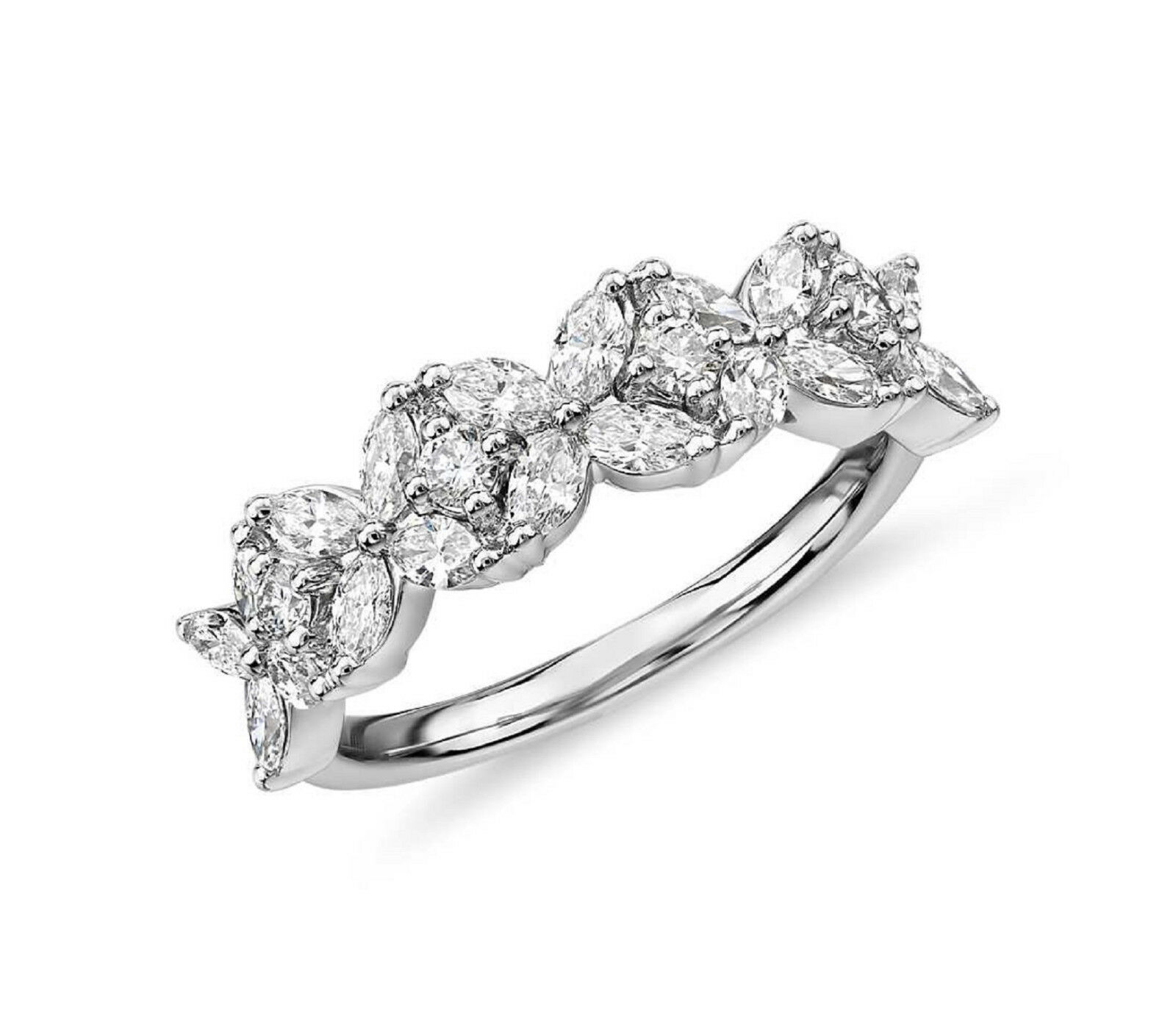 Christmas Special 2 3 Monique Lhuillier Cherie Marquise Diamond Anniversary Ring