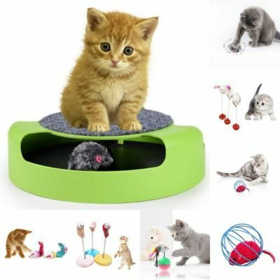 Pet Kitten Cat Cute Feather False Mouse Tumbler Ball Funny Training Play Toy