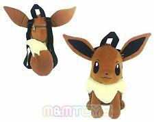 "Pokemon Eevee Plush Doll Backpack Soft Stuffed 14"" Costume Bag"