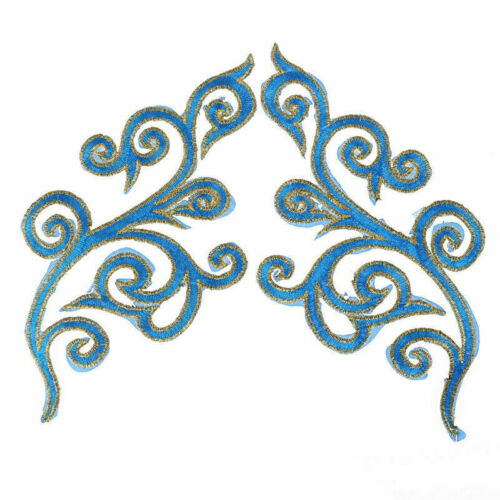 1 Pair Lace Applique Embroidery Patch Iron On Badge Applique Fabric Sewing Decor