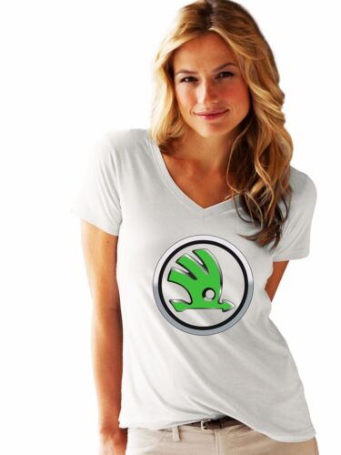 Skoda woman / lady LOGO NEW T-SHIRT FRUIT OF THE LOOM print by EPSON